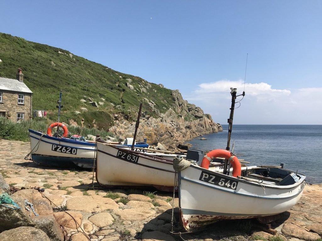 Fishing boats at Penberth, Cornwall boats