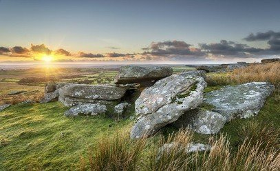 Moorland scenery in Cornwall