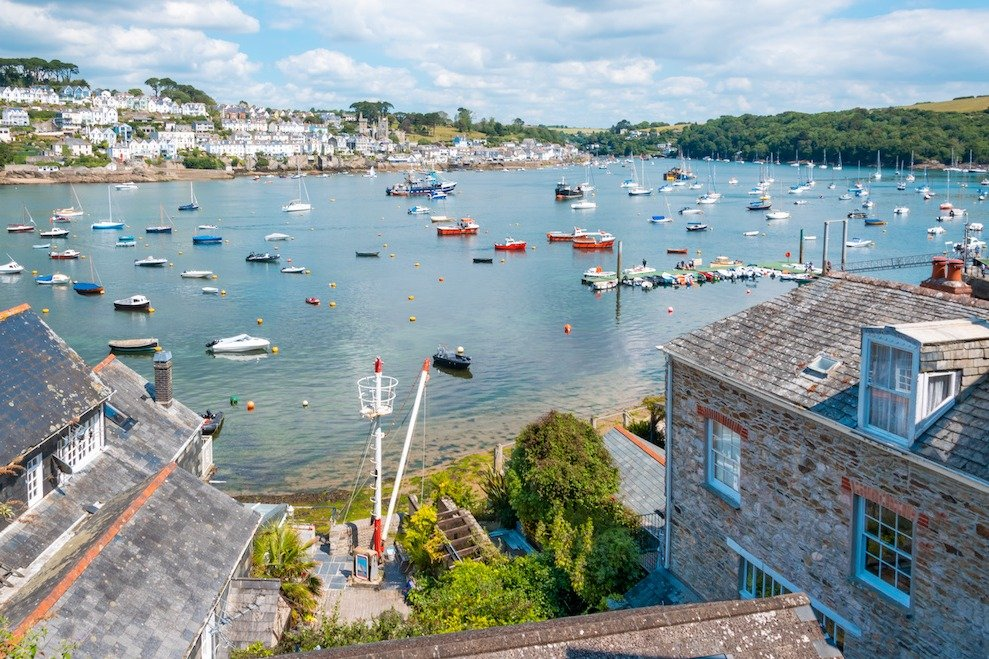 View of Fowey in Cornwall